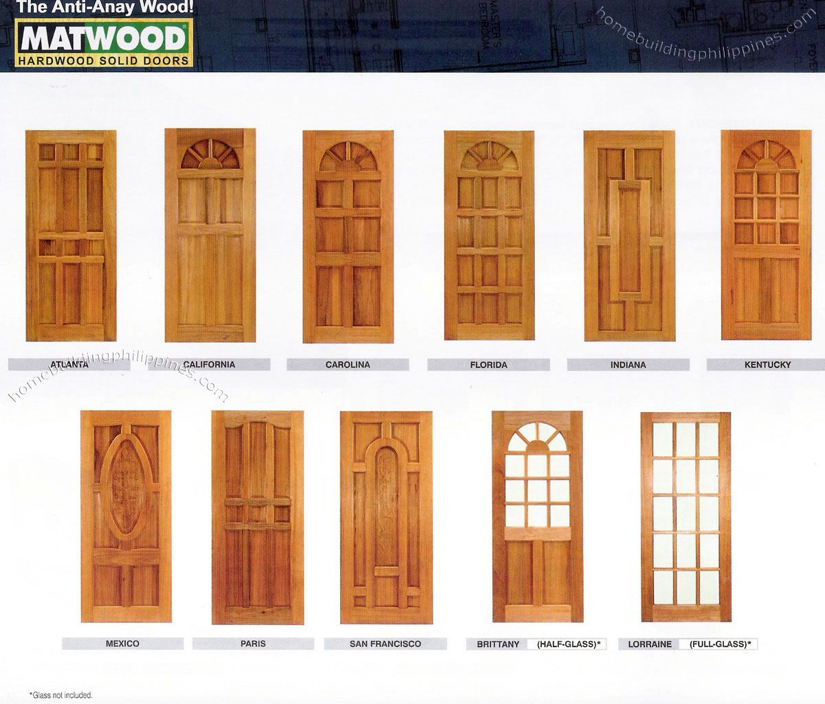 Wooden Front Door Design in Philippines http://www.woodesigner.net ...