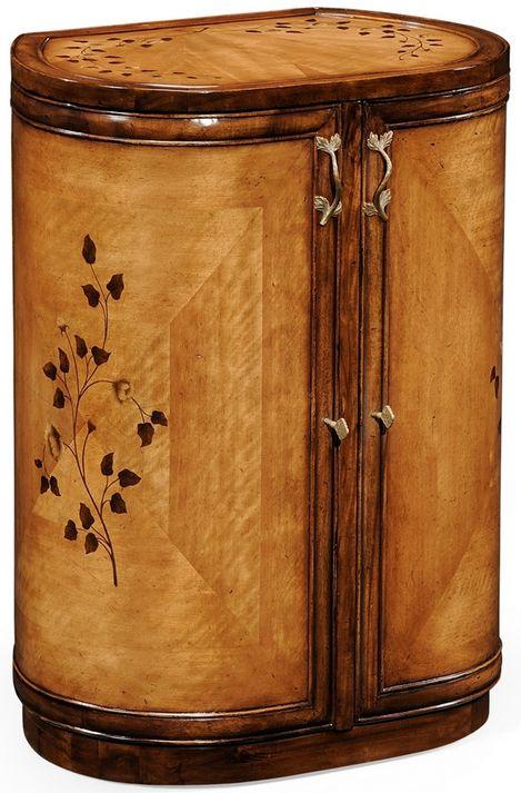 art nouveau cabinet ovale 39 boite bijoux 39 bois marquet haus pinterest jugendstil. Black Bedroom Furniture Sets. Home Design Ideas
