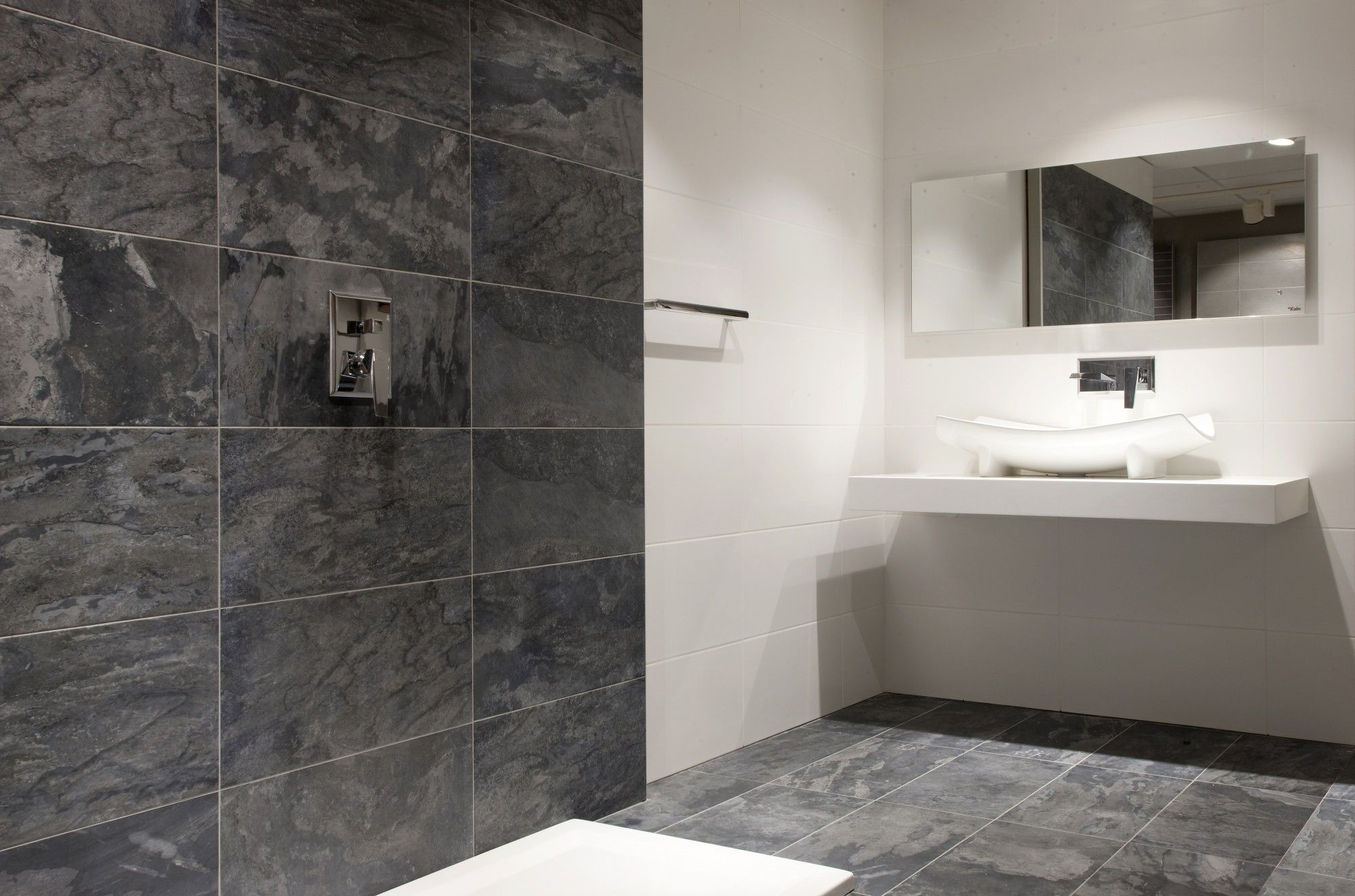 Wave anthracite wall and floor tile roomset ensuite pinterest wave anthracite wall and floor tile roomset dailygadgetfo Choice Image
