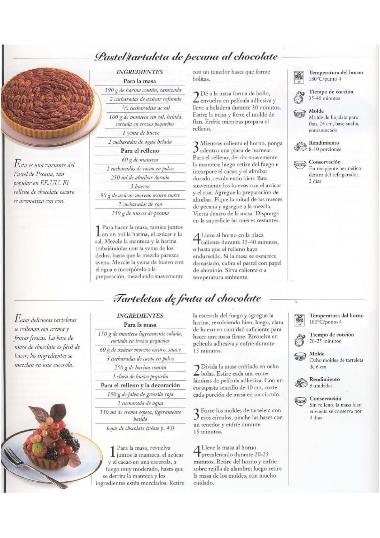 Libro de recetas de chocoloate
