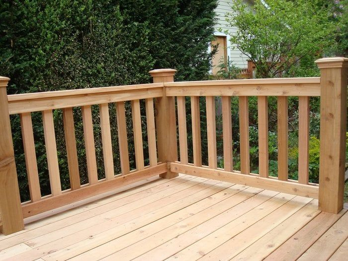 Best 2X6 Cedar Deck With Handrail Outdoor Outdoor Decor 640 x 480