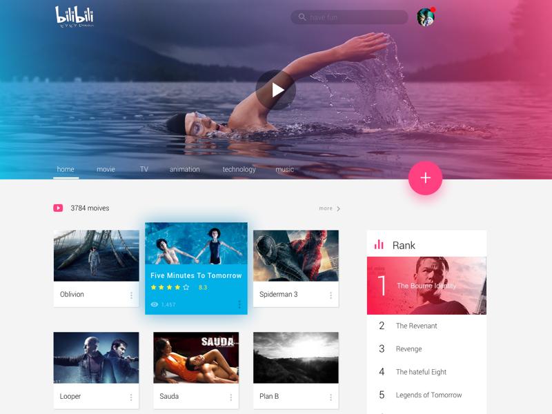Homepage Of A Video Sharing Website Builder Website Web Design Inspiration Website Builder Free