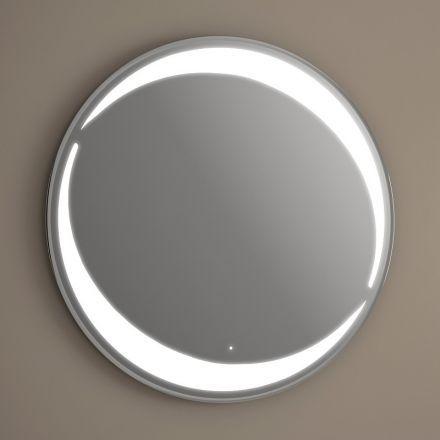 miroir lumineux rond pour salle de bain quip de capteur. Black Bedroom Furniture Sets. Home Design Ideas