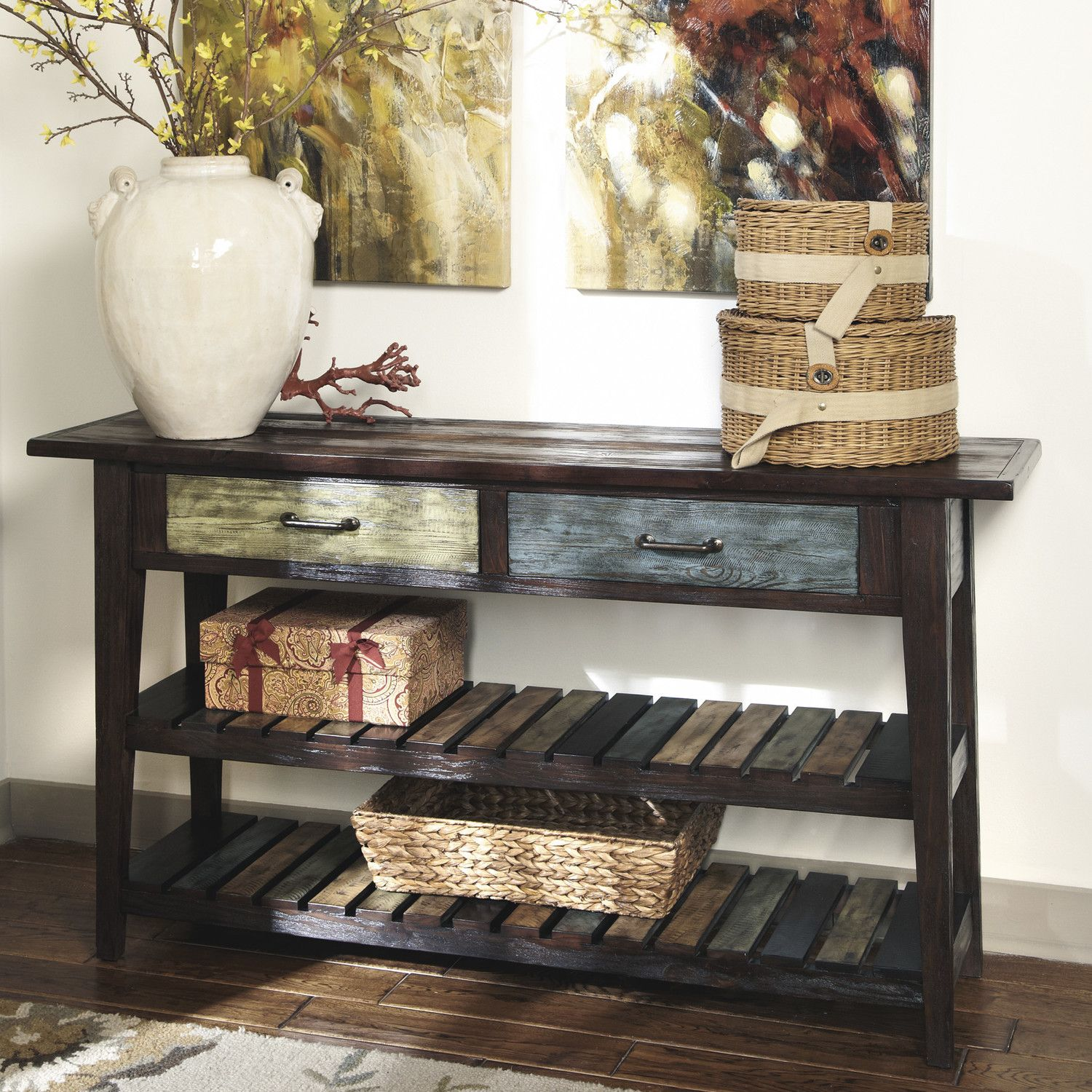 End of hallway storage ideas  Signature Design by Ashley Corey Console Table u Reviews  Wayfair