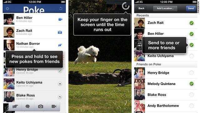 Poke: la nueva aplicación de Facebook para enviar mensajes que se autodestruyen