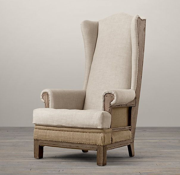 Superbe Deconstructed Highback Wing Chair. Restoration Hardware. $1645. Inspired By  The Unadorned Beauty Of