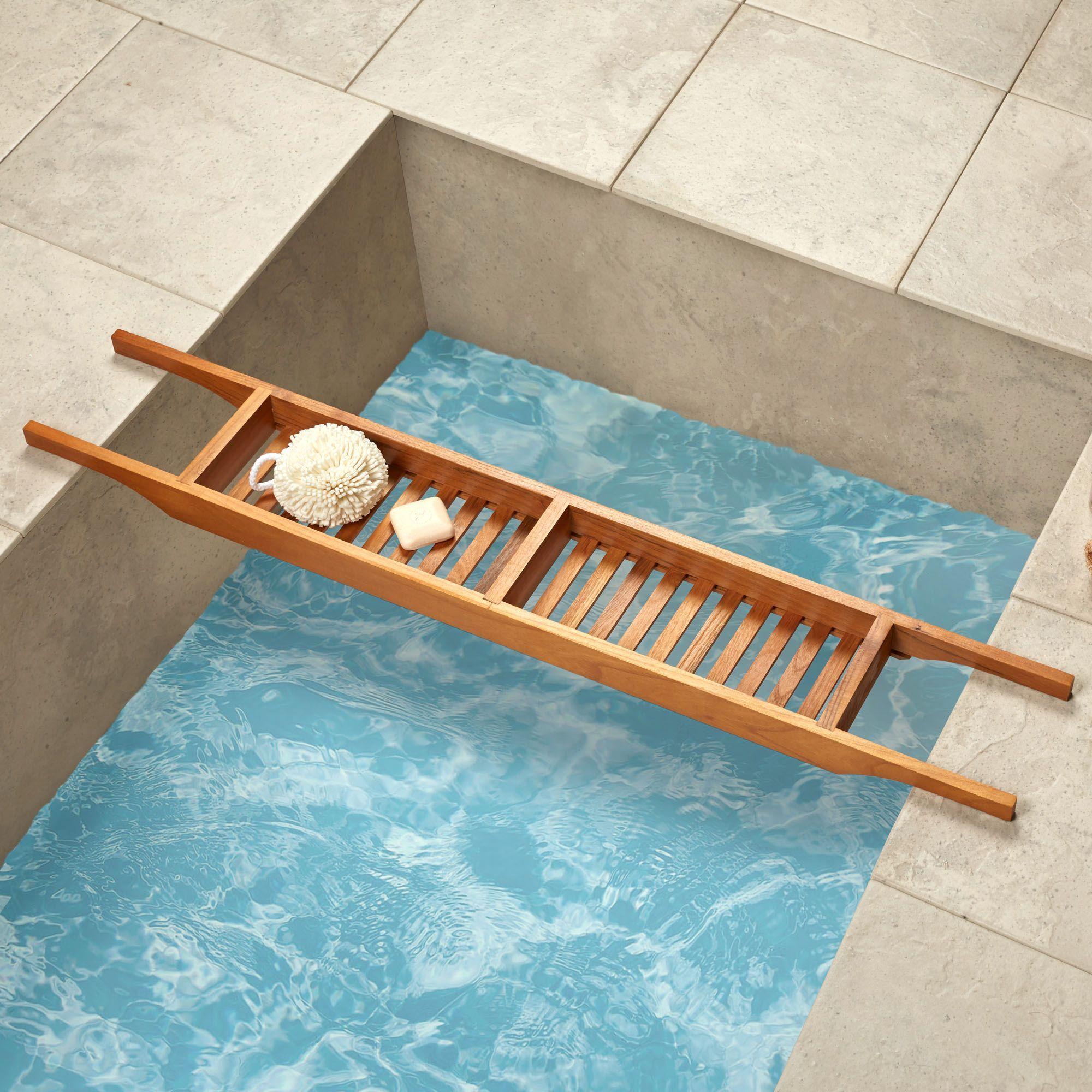 Bathtub Tray for Your Bathroom Accessories: Bathtub Tray | Teak ...