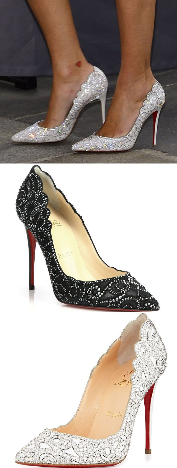 "Nicky Hilton wearing Christian Louboutin ""Top Vague"" pumps"
