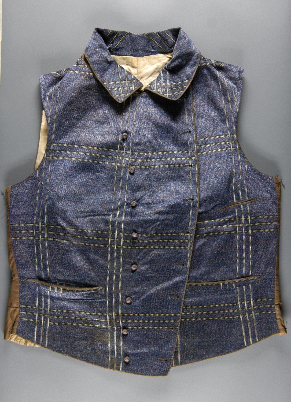 Late 19th Century Waistcoat Culture: American Medium: silk velvet