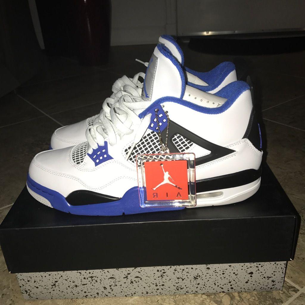 watch 42e2e ded8c Jordan Shoes | Air Jordan 4s Motorsport | Color: Blue/White ...