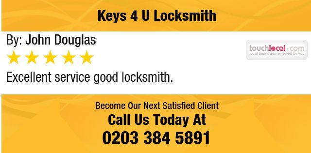 Excellent service good locksmith.