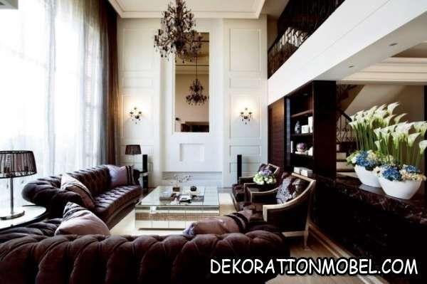 Moderne Wohnung Eleganz Klassisch Design Wohnzimmer
