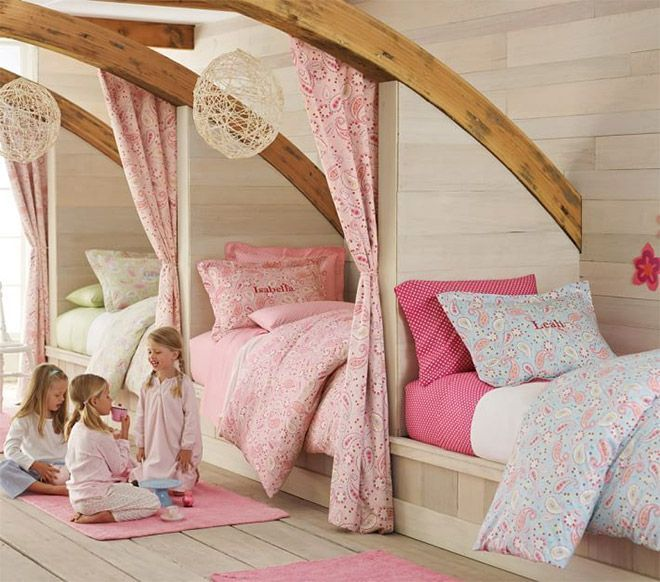 Superb Fit 3 Kids Into A Small Room By Having Custom Built Beds Along A Wall Good Looking