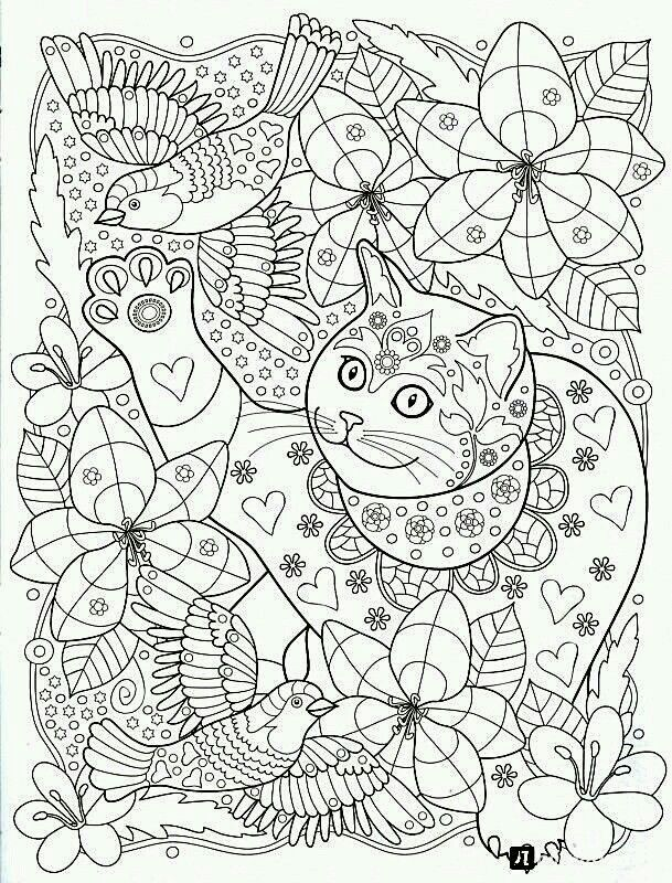 Pin de Beth Conroy en COLOR- CATS | Pinterest | Colorear, Mandalas y ...