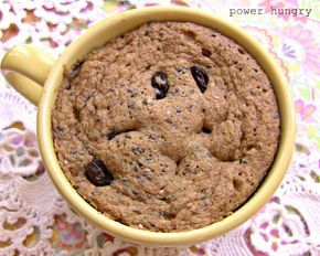 2-Minute All-Flax Muffin in a Mug #flaxseedmealrecipes