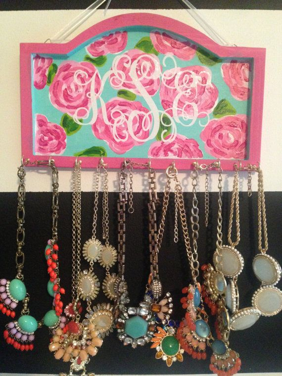 Monogram Lilly Pulitzer Inspired Necklace Holder by SCSouthern