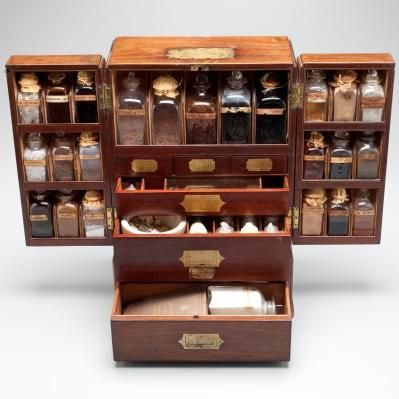Herbs: A fully stocked herbal medicine cabinet. I can just see ...