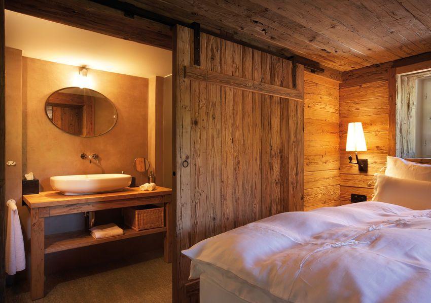 Schiebeture Hotel Guarda Val Wohnen Chalet Design