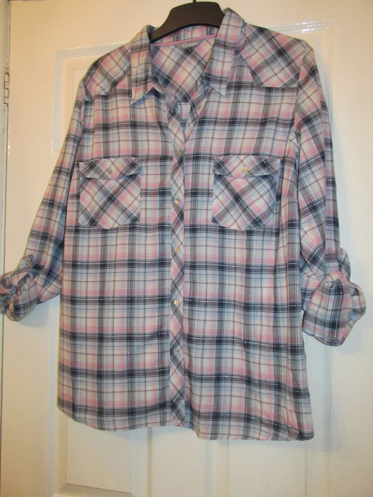 caec1c98 LADIES BLUE/PINK CHECKED SHIRT/BLOUSE COTTON TOP SIZE 24 BY MARKS AND  SPENCER #fashion #clothing #shoes #accessories #womensclothing #tops (ebay  link)