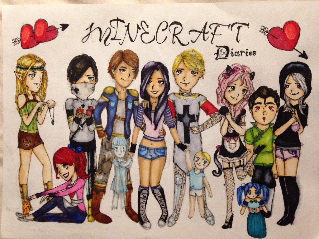 minecraft_diaries_by_ak132-d9hlvn2.jpg (1024×768) | Aphmau ... for All Minecraft Characters  186ref
