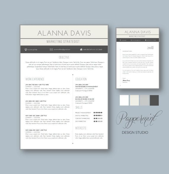 Resume Template With Cover Letter For Word  Cover Letter Template