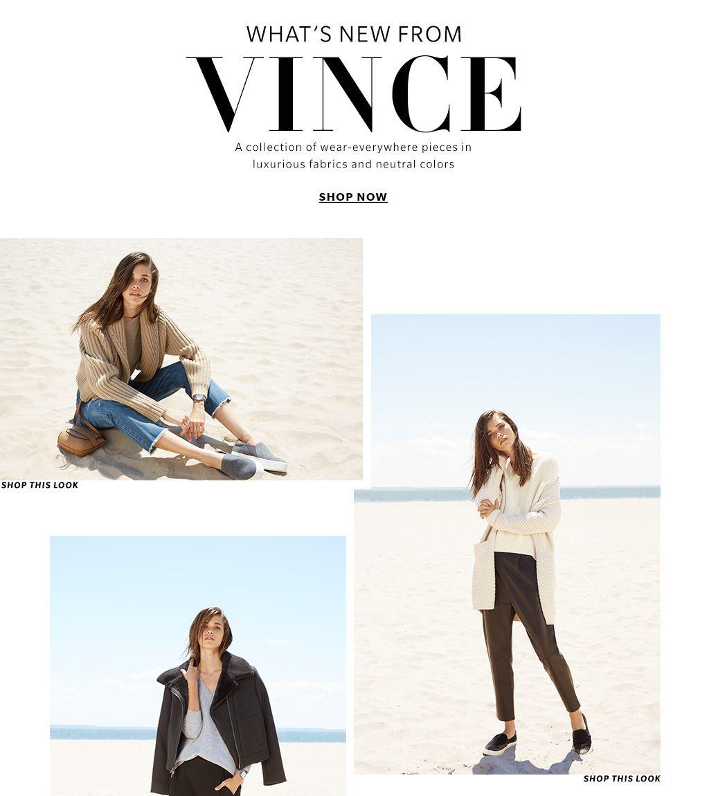 Vince Clothing, Shoes & Handbags Fall 2016 Lookbook | SHOPBOP