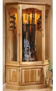 wood corner gun cabinet | woodworking | Pinterest | Guns, Woods ...