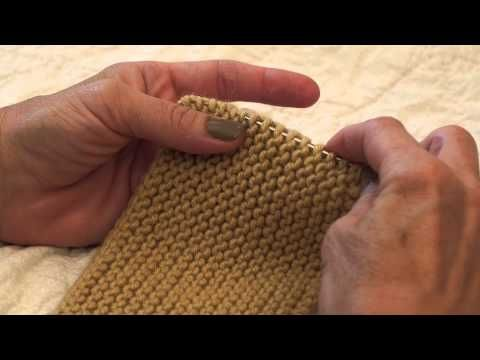 Youtube Pick Up Garter Stitch Edge Very Clear Instructions