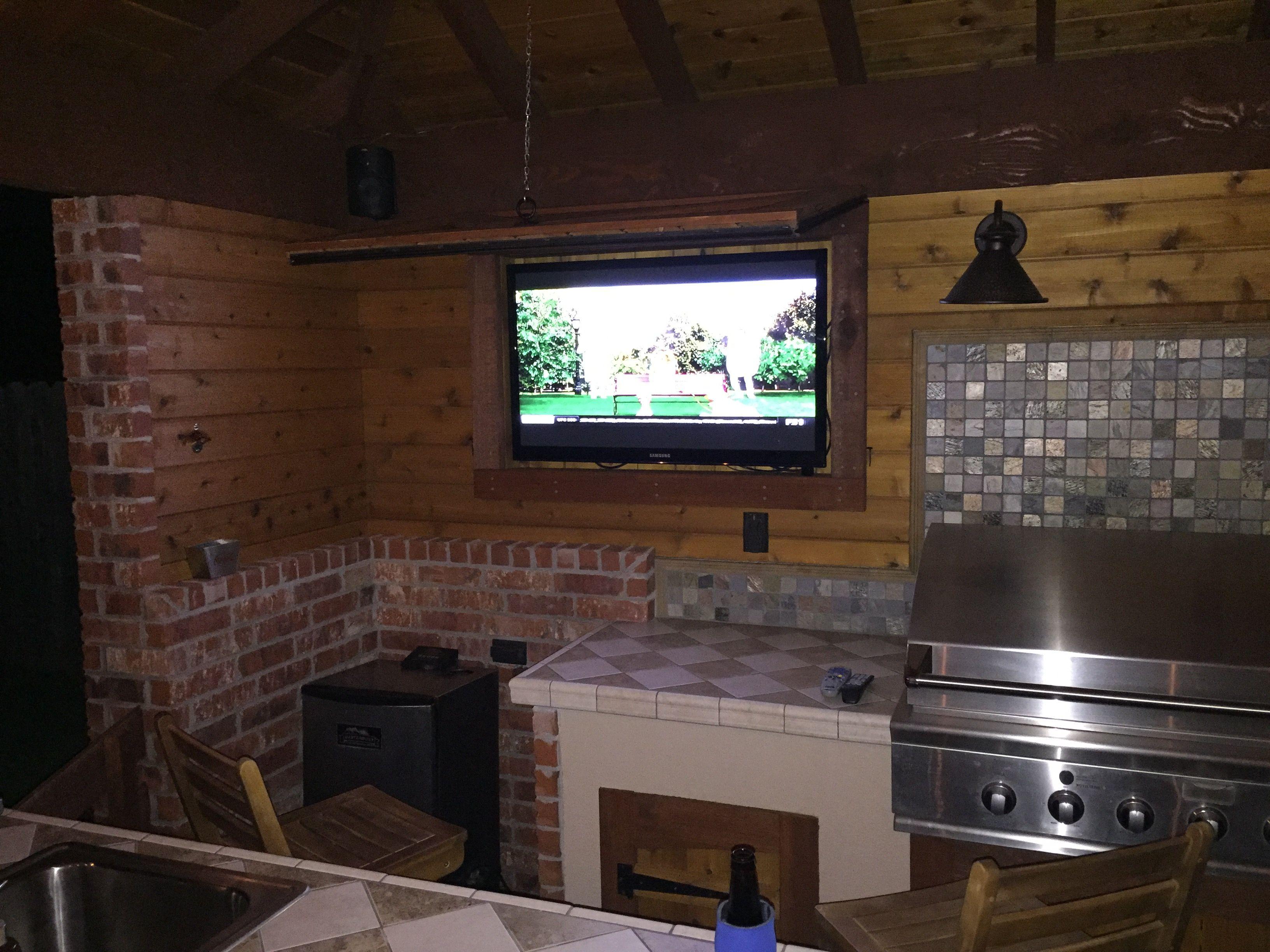 Outdoor Kitchen Diy Project Cedar By Ricky Tv Cabinet Diy Outdoor Kitchen Diy Kitchen Projects Outdoor Kitchen