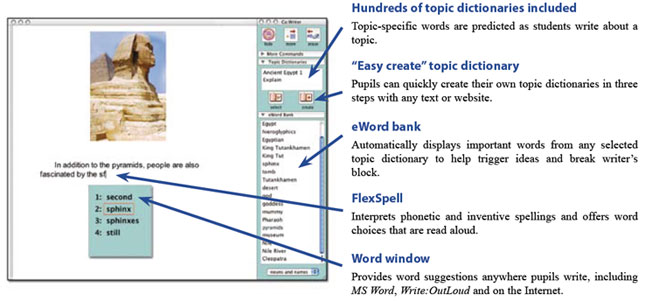 Co:Writer - word prediction software compatible with any program on