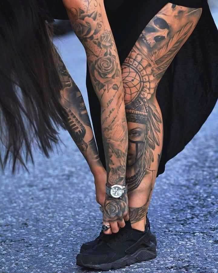 Photo of Tattooed model and fashion blogger Sammi Jefcoate #attooedmodels – Tattooed models