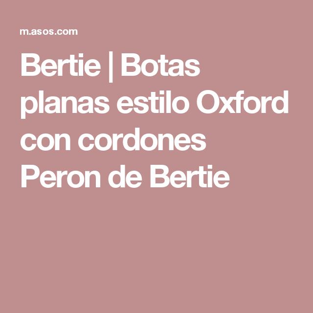 Bertie | Botas planas estilo Oxford con cordones Peron de