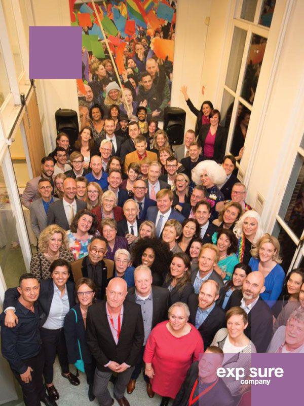 Ter gelegenheid van het 70-jarig jubileum van het COC Nederland een bezoek van Zijne Majesteit Koning Willem-Alexander.