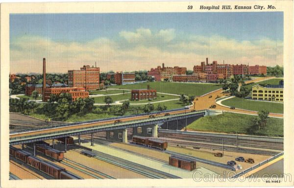 Quality Hill Area Kansas City Mo 1956 Kansas City Downtown City Pictures Missouri Valley