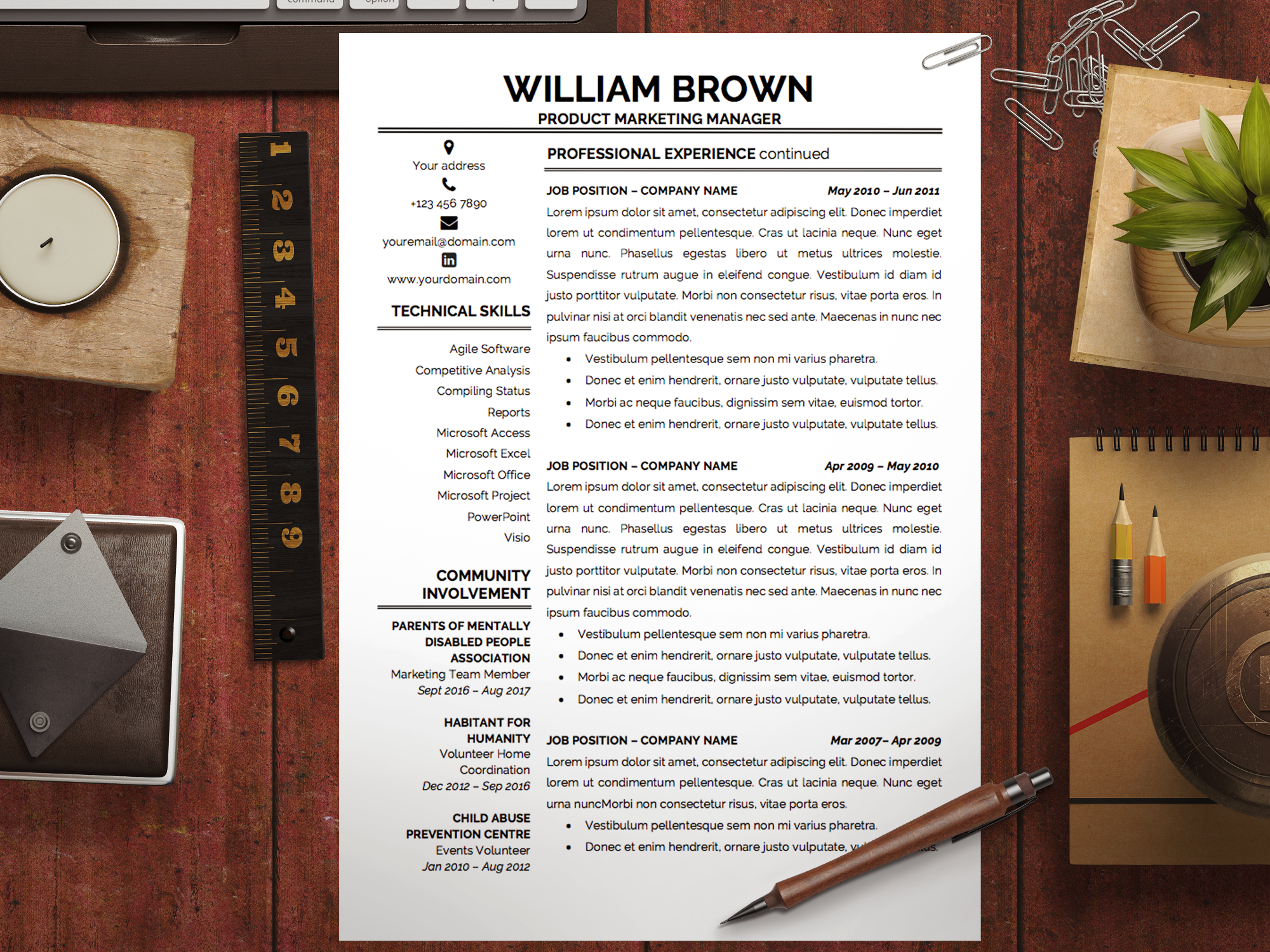 Resume Template William Brown  Cover Letter Template Letter