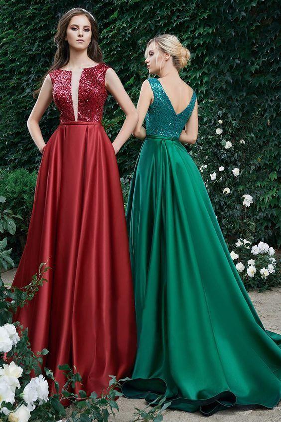 Wonderful Tulle & Sequin Lace Bateau Neckline Floor-length ...
