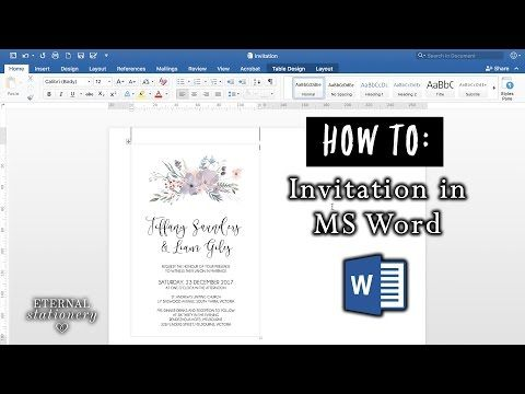 YouTube DIY Wedding Pinterest Word office, Diy wedding - how to make invitations with microsoft word