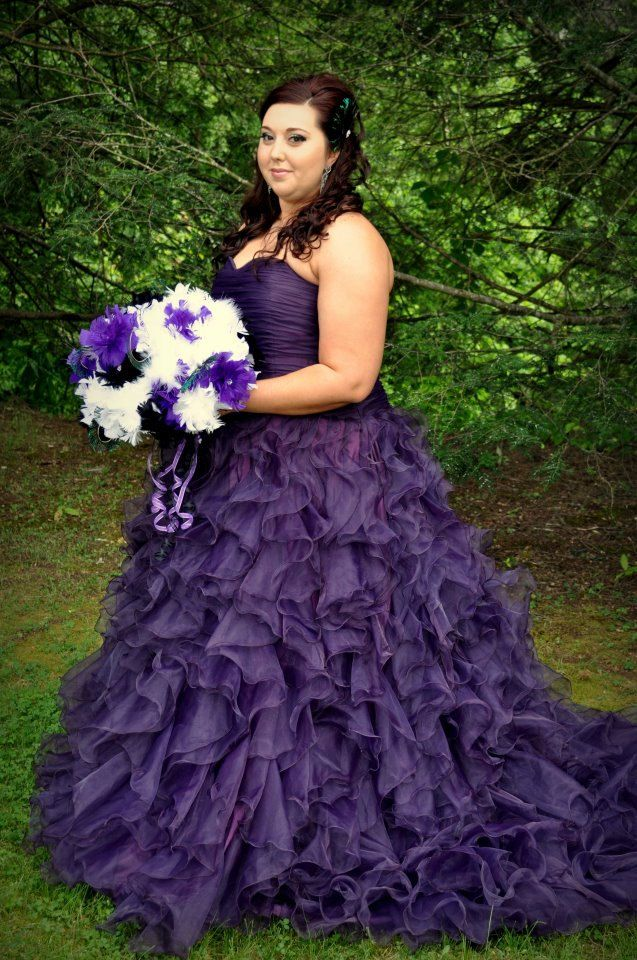 Plus Size Purple Wedding Gowns Purple Wedding Dress Custom Made