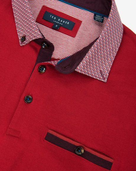 Polo Shirts, Men Shirts, Red Jackets, Red Tops, Ted Baker, T Shirt,  Collars, Trieste, Mens Fashion