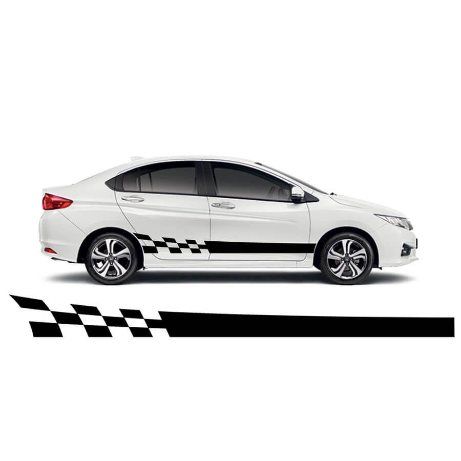 Side Racing Stripes Car Sticker 4fancyfans Car Stickers Racing Stripes Car [ 900 x 900 Pixel ]