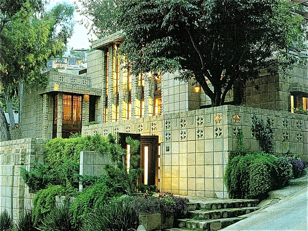 Storer house 8161 hollywood blvd los angeles ca for Architecture frank lloyd wright