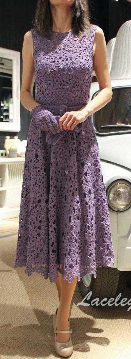 21 Ideas Crochet Lace Dress Pattern Stitches #crochetdressoutfits