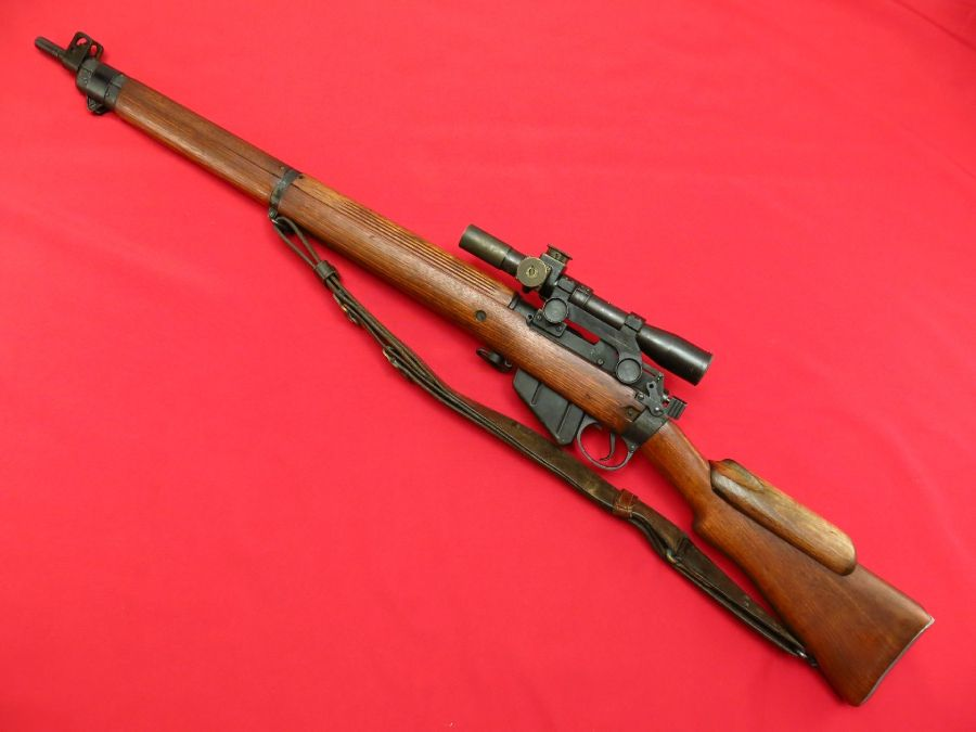ENFIELD ~ No.4 Mk I(T) WWII BRITISH SNIPER MATCHING SN SCOPE ...
