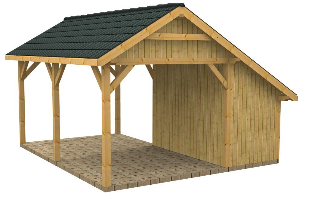 Wood carports with storage sc25vis nr2b bunk house for Timber carport plans