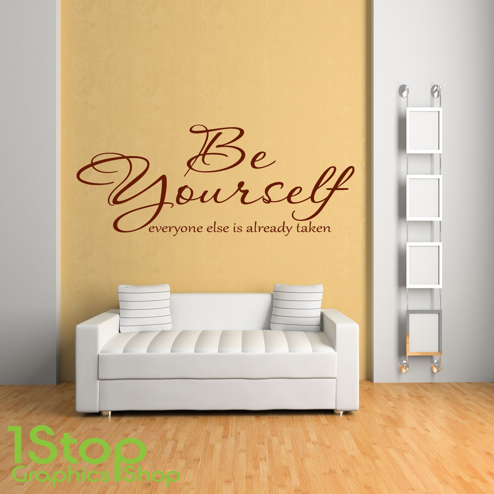 Be Yourself Wall Sticker Quote - Home Bedroom Wall Art Decal X76 ...