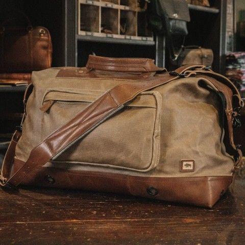 aa7d512e63 Dakota Waxed Canvas Oversized Weekend Bag - Field Khaki
