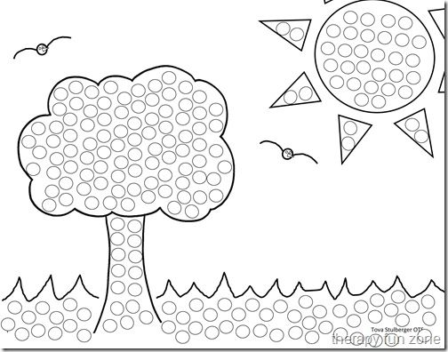 q tip painting templates and do a dot printables - Painting Worksheets For Kindergarten