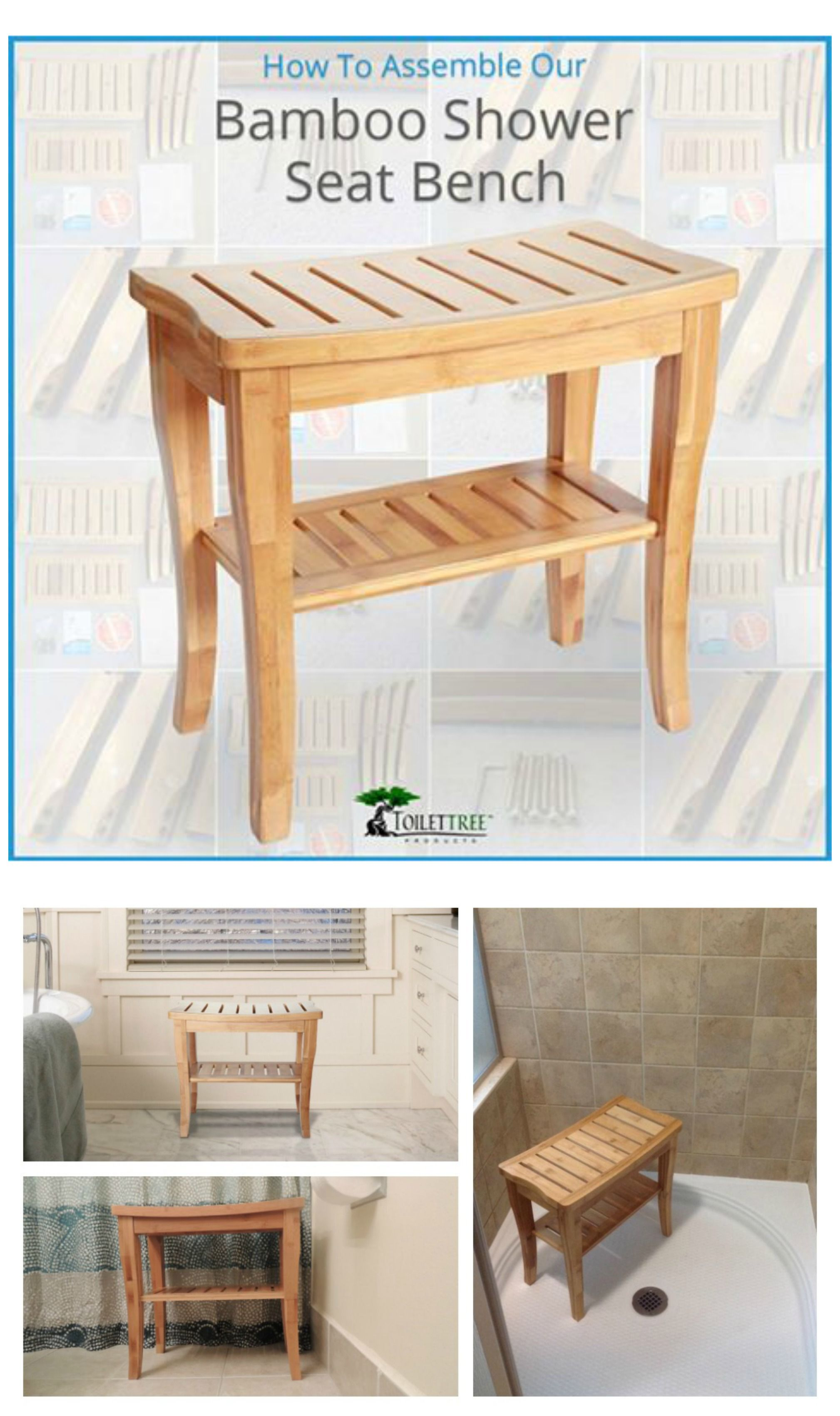 Bamboo Shower Seat with Shelf - DIY Guide   Shower seat