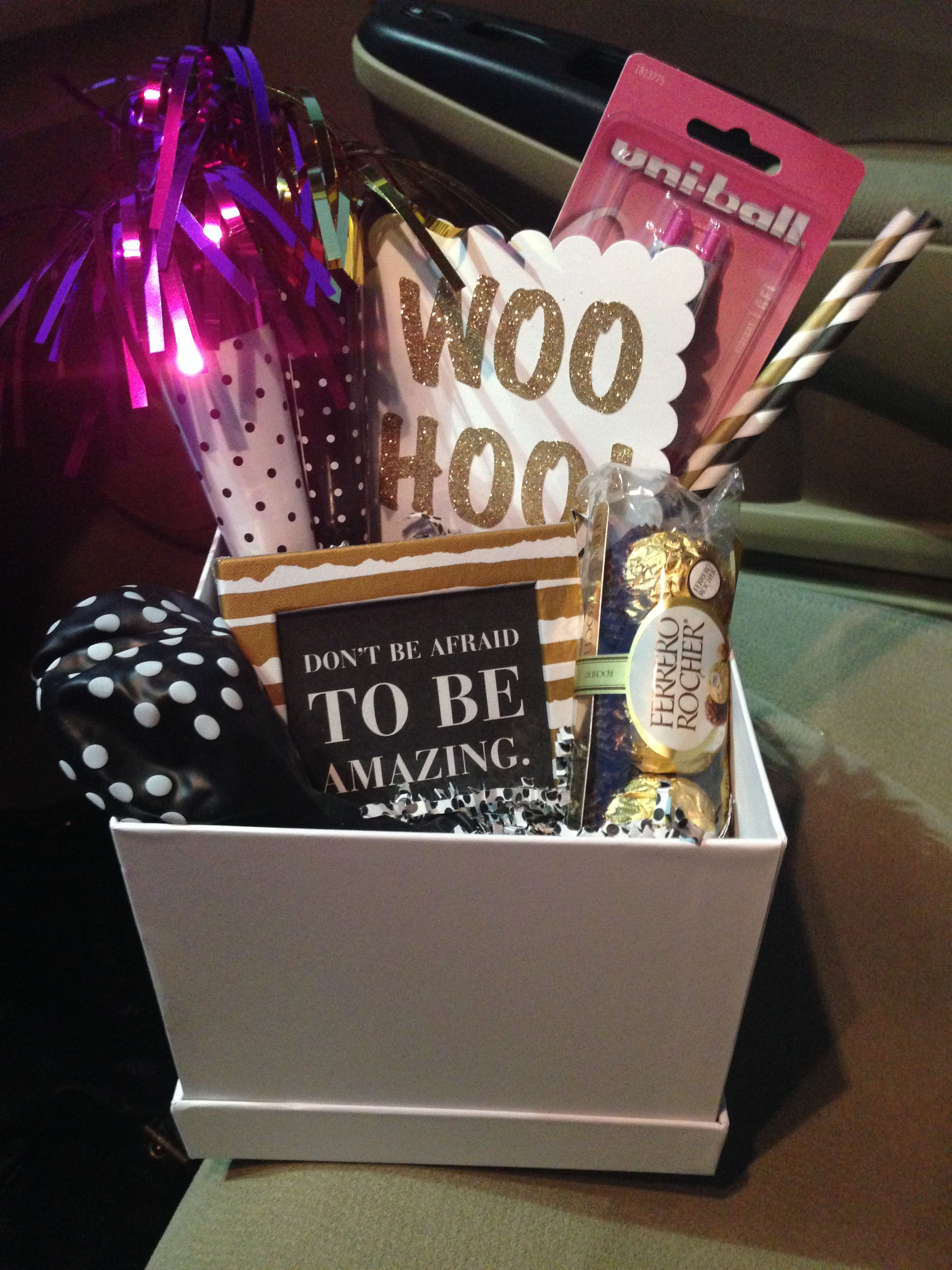 Congratulations gift gift basket celebrate with