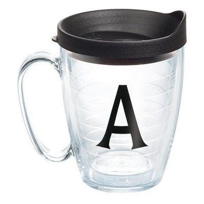Tervis Tumbler Initials Deco 15 Oz. Mug with Lid Initial: